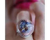 Dollybird Ultra Violet Raw Fire Opal Ring