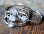 Crystal Center Bangle White Herkimer Diamond Bracelet