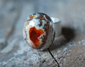 Raw Peaches Fire Opal Ring