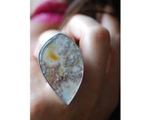 Summer Blossom Ring Collector Plume Agate