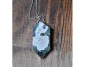 Garden Keeper's Necklace Double Terminated Moss Agate Layering Necklace