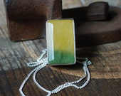 Sundrenched Pendant Rare Yellow Banded Fluorite All Natural