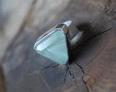 Chlorite In Quartz Ring Faceted Included Crystal Quartz Collector Green Quartz