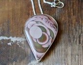 Lavender Moon Phase Necklace Royal  Imperial Collector Jasper
