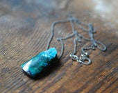 Drusy Chrysocolla Cavern Necklace