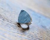 Grounded Ring Raw Hematite Shimmer