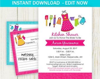 Kitchen Bridal Shower Invitation Etsy