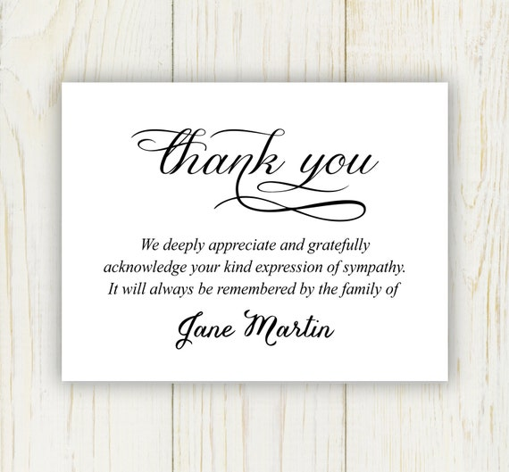 image 0 - Sympathy Thank You Cards