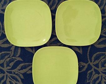 Tiempo bread plates, Franciscan Metropolitan,  Franciscan Tiempo, Vintage Franciscan, square plates, Gladding McBean, Vintage Franciscan