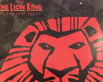 Vintage Lion King Souvenir Broadway Brochure