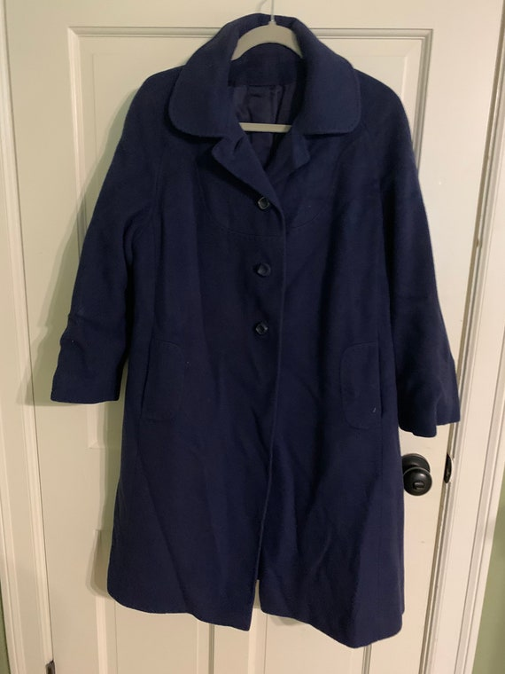 royal blue. Vintage wool and cashmere mix coat UK18 US 14 EU 46 Marks /& Spencer