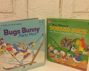 Vintage Children's Books Bugs Bunny and Donald Duck
