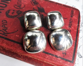 vintage antique sterling silver Mexico black onyx stone mid-century 925 bar pin brooch signed swirl goth wedding bridal burlesque art deco