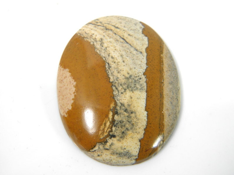 jewelry designer oval picture jasper jewelry stone natural stone cabochon handcrafted Owyhee jasper cabochon