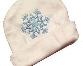 Preemie & Newborn Boy's Snowflake Hat