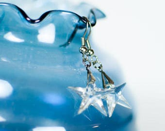 Upcycled Vintage Star Charm Earrings