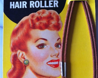 Vintage Rollers, Vintage Curlers, Solo Hair Rollers, Retro Hairstyles, 1940s, Victory Rolls, Wartime, Homefront, WWII, 40s dress, Pin-up