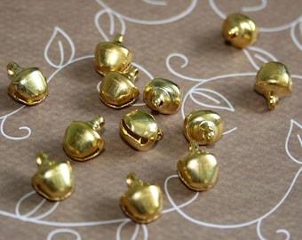 10pcs Big 20 mm bronze jingle bells Charm Christmas Pendant