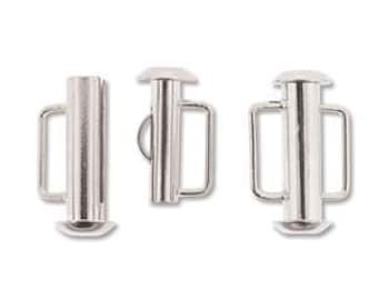 free uk postage Silver Plated Slide Bar Clasp 16.5mm Pack of 4