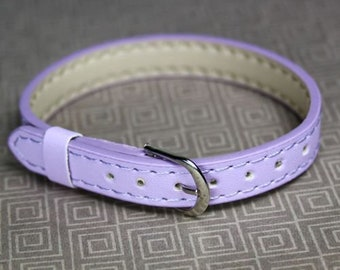 free shipping in UK - Pack of 5 Lilac Adjustable Leatheroid Bracelet Watch straps
