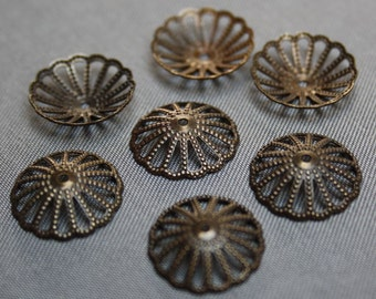 Low Antique Bronze Bead Cap 13mm pack of 50 pcs