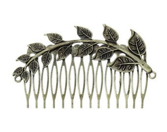 Pack of 2 Antique Bronze Hair Comb with Filigree Branch free shipping in UK
