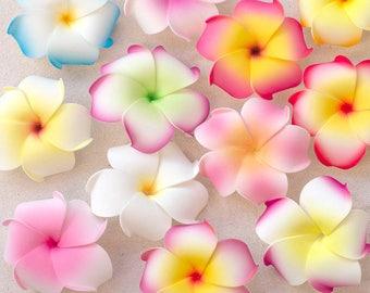 Plumeria Hair Clips, Flower Hair Clips, One Dozen,  Hair Flowers,  Floral Hair Clips, Choose The Colors
