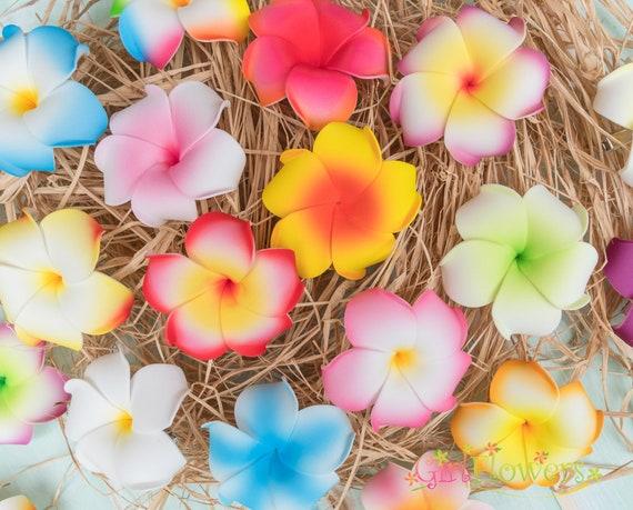 Fiori per Capelli Gioielli Capelli Fermaglio Hibiskus Fiore Capelli Clip Hawaii testa GIOIELLI ROSSO