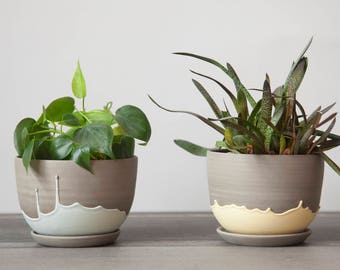 Plant pot - ceramic planter - ceramic plant pot - plant pot cover - stoneware plant pot - plant holder