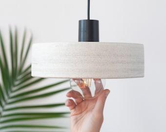 Speckled pendant lighting No3 , Large ceramic lampshade - Handmade pendant lamp
