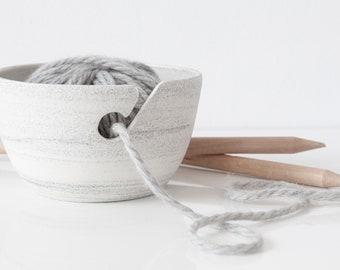 Ceramic knitting bowl , Large yarn bowl , Ceramic wool bowl , Handmade knitting bowl