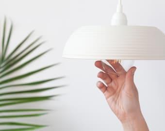 White pendant lighting No6 , Ceramic hanging lamp , Handmade ceramic lamp , Large ceramic lampshade