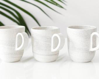 Small speckled mug with handle , handmade ceramic coffee cup , small espresso cup , specklec ceramic cup