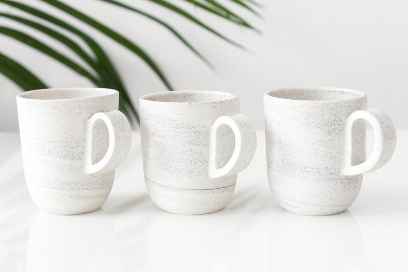 Small speckled mug with handle  handmade ceramic coffee cup  image 0