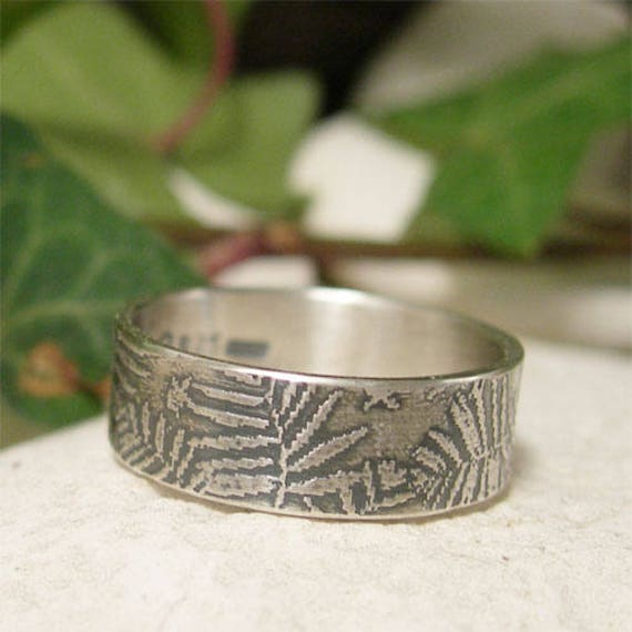 Organic Textured Ring Nature inspired Adjustable Ring Oxidized Silver Original Ring Minimalist Ring STERLING SILVER RING