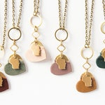 Personalized Gift - State Heart Pendant Necklace - Graduation Gift - Available in 40+ Colors