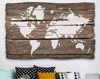 World map wall decal etsy world map wall art stencil reusable stencils for diy craft projects better than decals gumiabroncs Images