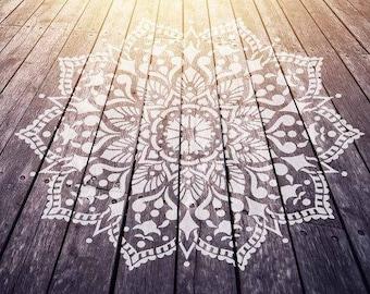 Passion Mandala Stencil For Walls – MANDALA WALL STENCIL - Large Wall Stencil for Painting - Stencil on Wood - Better than Mandala Decals