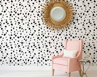 Dalmatian Spots Stencil - Wall Stencils Better than Wallpaper - Easy to Use  Stencils for a Quick Room Renovation - Stencil and Save! 260565002d
