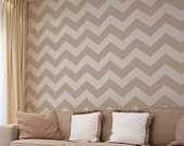 Chevron Stencil LG - Large Stencil for Painting - Reusable Wall stencil pattern - Geometric stencils instead of wallpaper for easy DIY paint