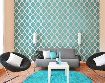 Rabat Moroccan Stencil Design - Large - Reusable stencils for walls - DIY decor - Cutting Edge Stencils
