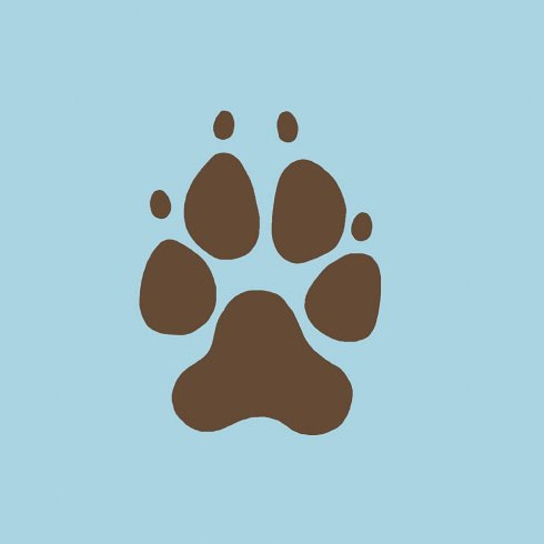Easy to Use Dog Paw Print Wall Art Stencils Better than Decals