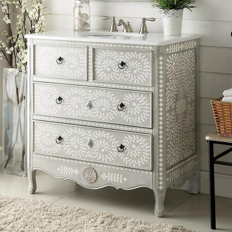 Priya Bone Inlay Stencil  Bone Inlay Designs for Furniture image 0