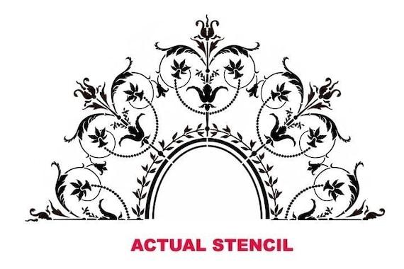 Classic French Decor Stencils Marie Antoinette Ceiling Medallion Stencil