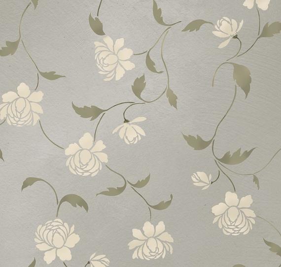 Flora Allover Wall stencil
