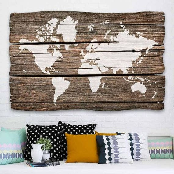 World map wall art stencil reusable stencils for diy craft etsy gumiabroncs Gallery