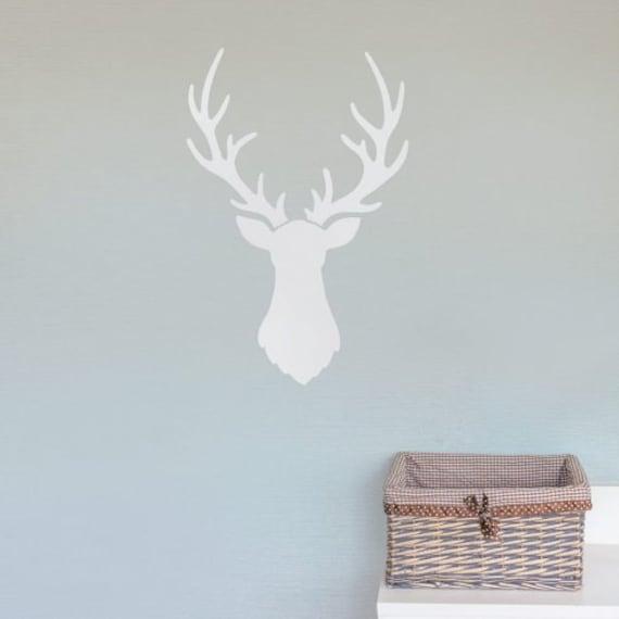 Better than Decals Great for DIY Nursery Decor Deer Head Wall Art Stencil