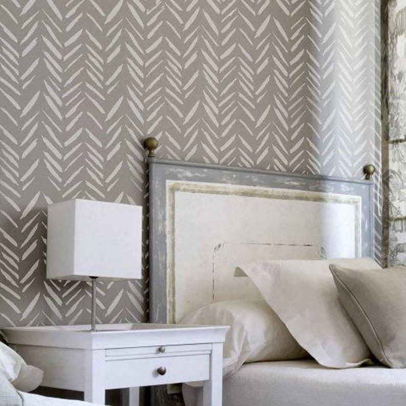 Brush Strokes Wall Stencil Diy Home Improvement Better Than Wallpaper