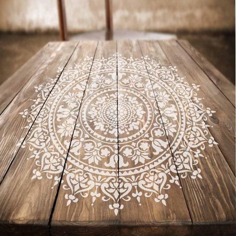 Mandala Stencil Prosperity  Mandala Stencils for Furniture image 0
