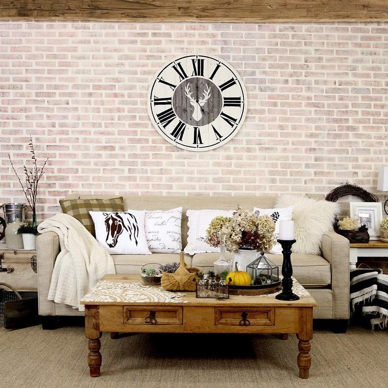 Bricks Wall Stencil  LARGE WALL STENCILS instead of Wallpaper image 0